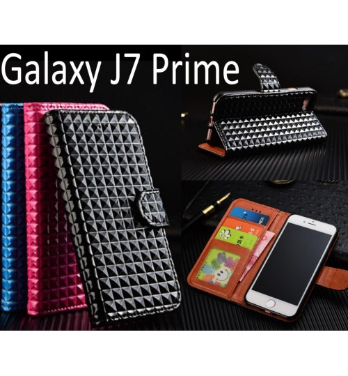 Galaxy J7 Prime Leather Wallet Case Cover