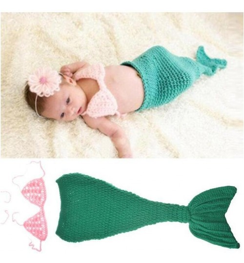 Baby mermaid photography prop set
