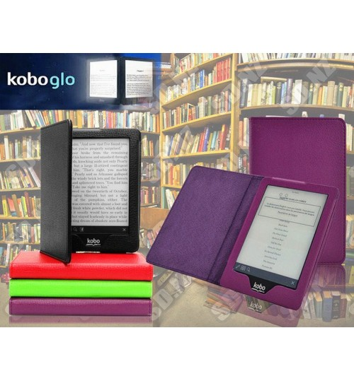 Kobo GLO eReader Leather Book Style Cover Case