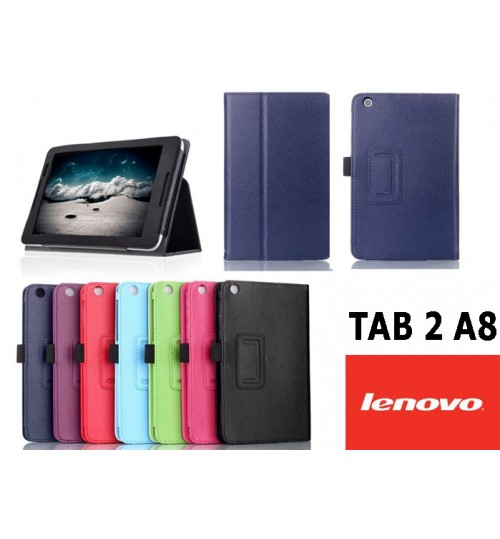 "Lenovo Tab 2 A8-50 8"" Tablet leather case+PEN"