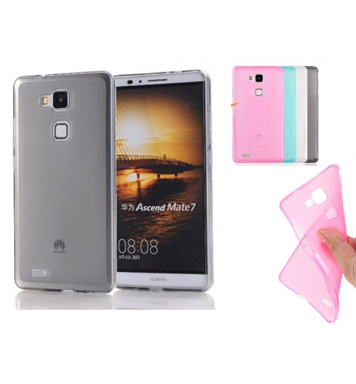Huawei Mate 7 case TPU Soft Gel Case+Pen