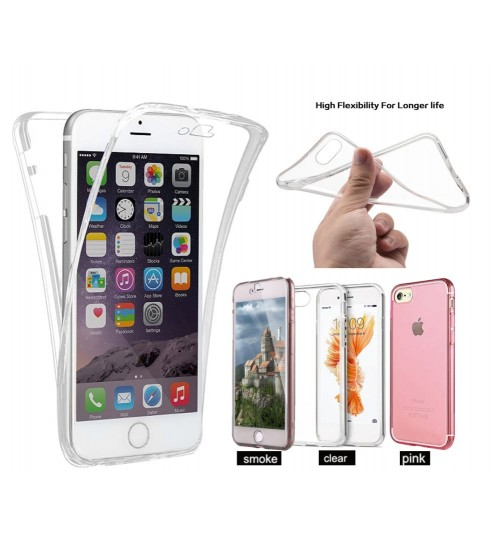 iphone 7  case 2 piece transparent full body protector case