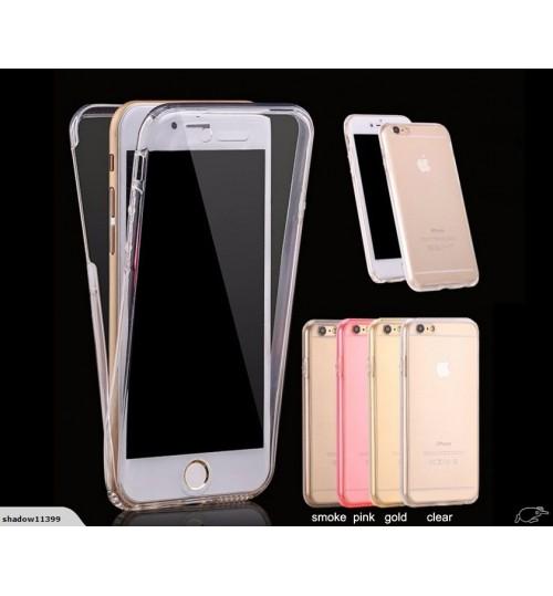 iphone 5 5s SE case 2 piece transparent full body protector case