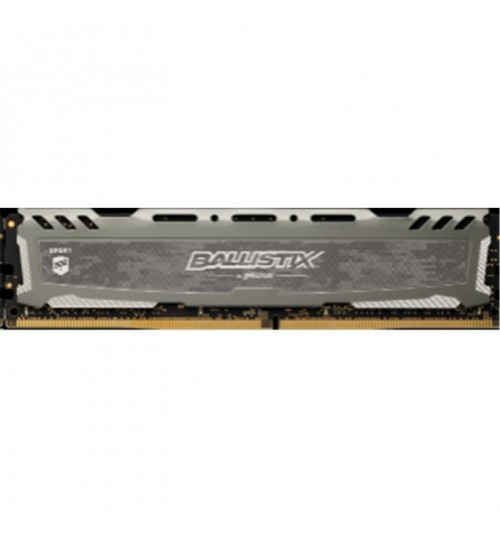 Crucial Ballistix Sport LT, 4GB Grey DDR4 2400 MT/s (PC4-19200) CL16 SR x8 Unbuffered DIMM 288pin