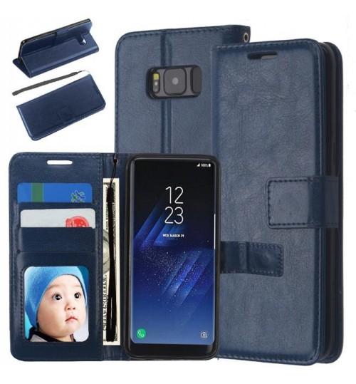 Galaxy S8 vintage fine leather wallet case