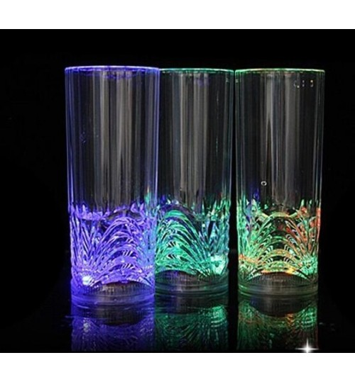 LED Inductive Rainbow Color Flashing Light Cup