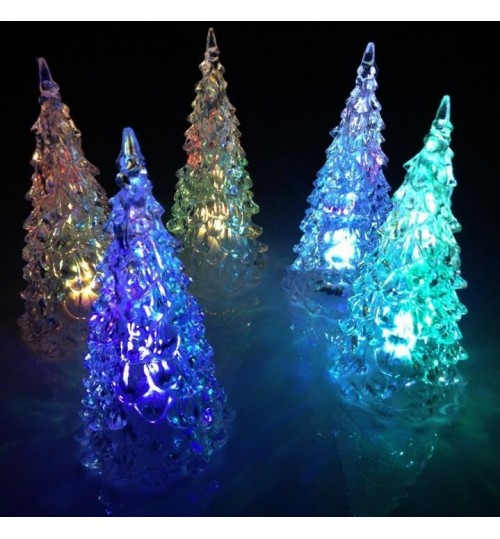 LED Lamp Light Acrylic Christmas Tree