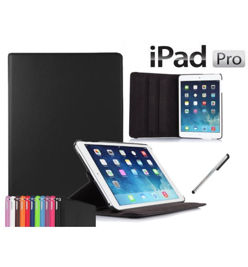 iPad Pro 12.9 inch Leather Flip Case+Pen