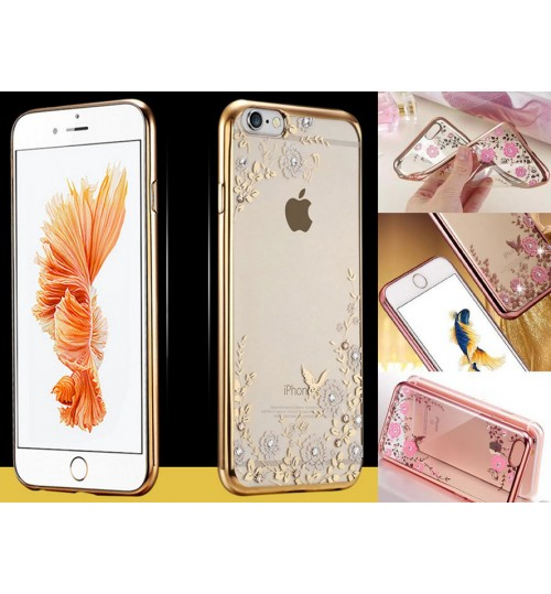iPhone 6 6s Plus Case soft gel tpu luxury bling shiny floral case