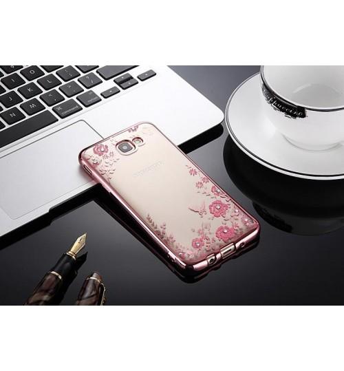 Samsung Galaxy S7 Edge soft gel tpu case luxury bling shiny floral case
