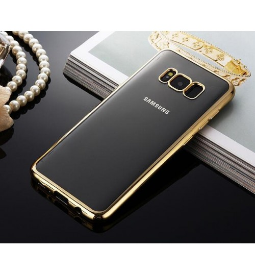 Galaxy S8 case bumper w clear gel back cover