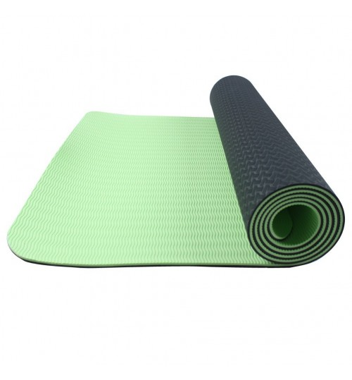 Yoga Mat 6 mm Non Slip TPE with Rope