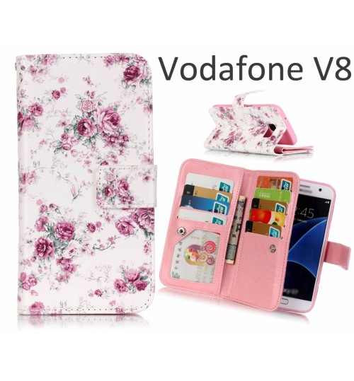 Vodafone V8 Case Multifunction wallet leather case