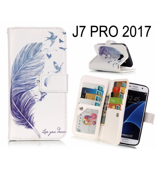 J7 PRO 2017 Case Multifunction wallet leather case