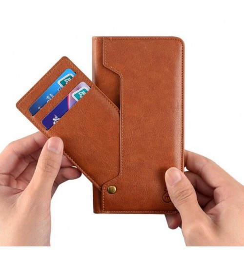 huge discount c460d 3133f ONEPLUS 5 CASE slim leather wallet case 6 cards 2 ID magnet