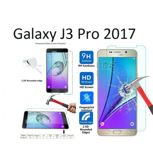 Galaxy J3 Pro 2017 CURVED Tempered Glass Protector
