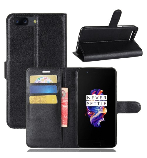 Oneplus 5  Case Leather Wallet COVER