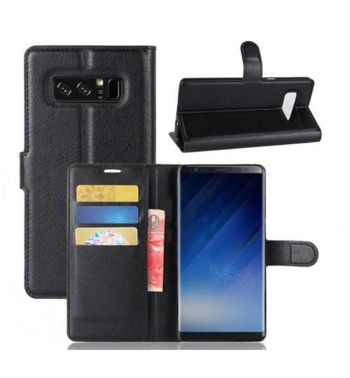 Galaxy Note 8 Case wallet leather case ID window combo