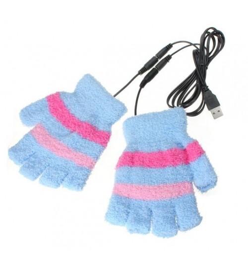 USB heated warm gloves