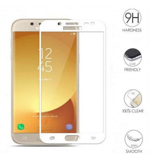 Galaxy J3 PRO 2017  FULL Screen covered Tempered Glass Screen Protector
