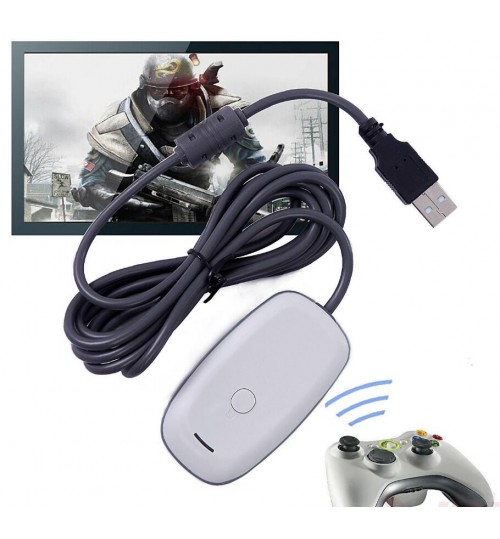 PC Wireless Controller Gaming USB Receiver Adapter For Microsoft XBOX 360