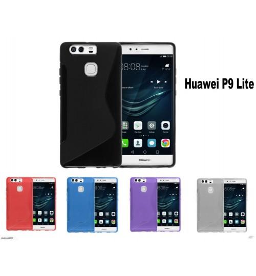 Huawei P9 Lite case TPU gel cover S line+Combo