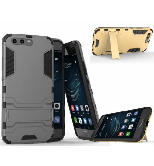 Huawei P10 PLUS Case Heavy Duty Hybrid Kickstand Cover