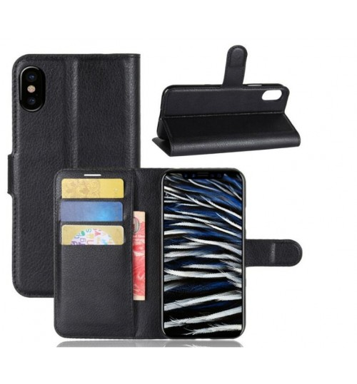 Iphone X  Case wallet leather case ID window combo