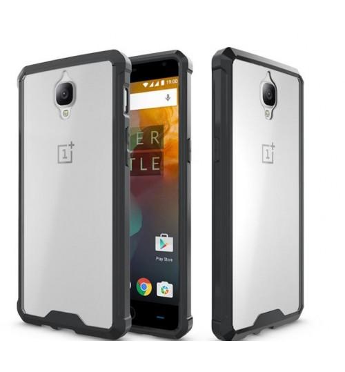 OnePlus 3 case bumper  clear gel back cover