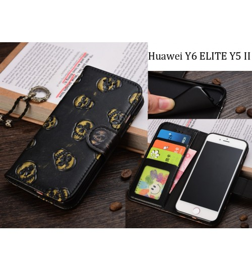 huge selection of 0801a a218b Buy Huawei Y6 ELITE Y5 II Leather Wallet Case Cover online at Geek ...