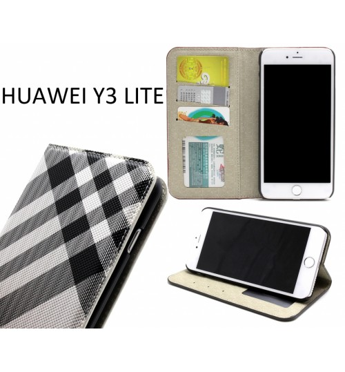 Huawei Y3 lite case wallet Leather case