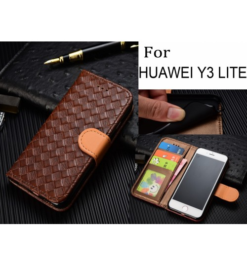 Huawei Y3 lite Leather Wallet Case Cover