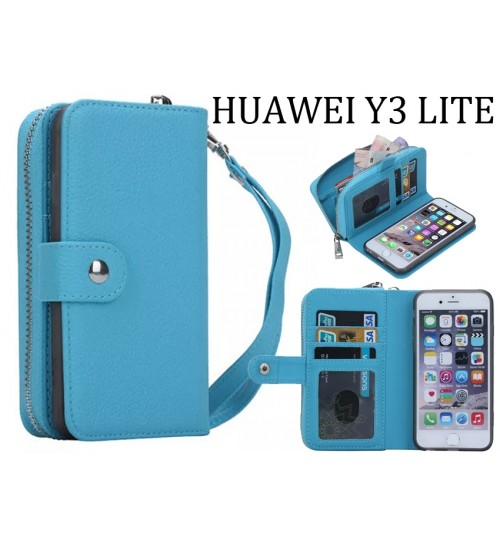 Huawei Y3 lite full wallet leather case