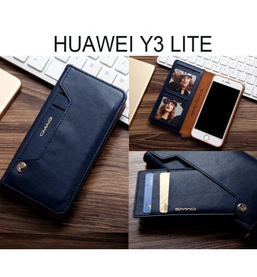 Huawei Y3 lite CASE slim leather wallet case