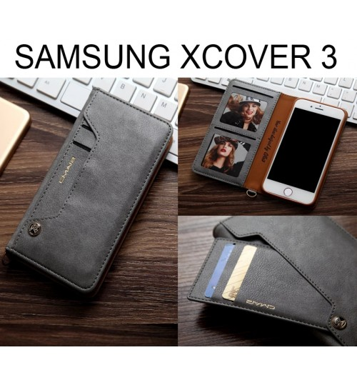 Galaxy Xcover 3 CASE slim leather wallet case