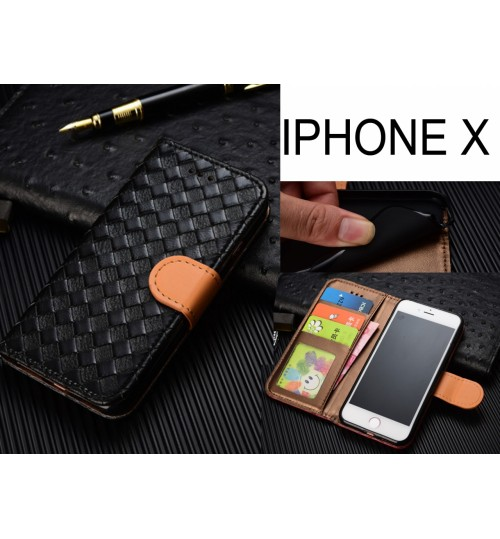 iPhone X case  Leather Wallet Case Cover