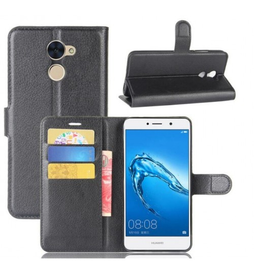 Huawei Y7 Prime wallet leather case+Pen