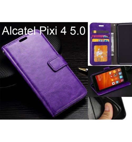 Alcatel Pixi 4 case Fine leather wallet case