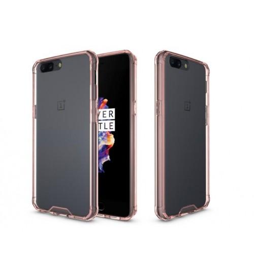 OnePlus 5 case bumper  clear gel back cover