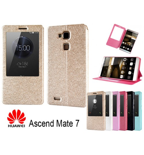 Huawei  Mate 7 case luxury view window case