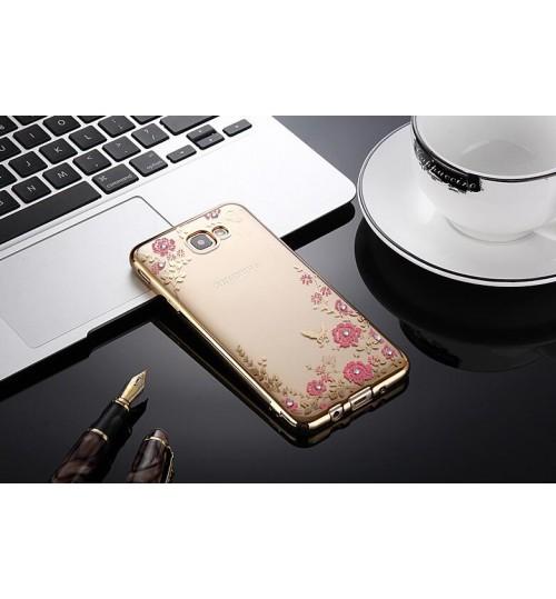 Samsung Galaxy J5 PRIME soft gel tpu case luxury bling shiny floral case