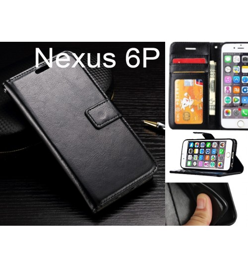 Nexus 6P case Fine leather wallet case