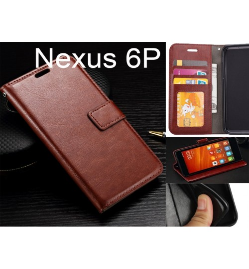 Nexus 6P case Fine leather wallet case