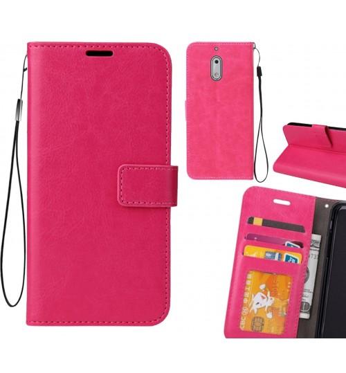 Nokia 6  case Fine leather wallet case
