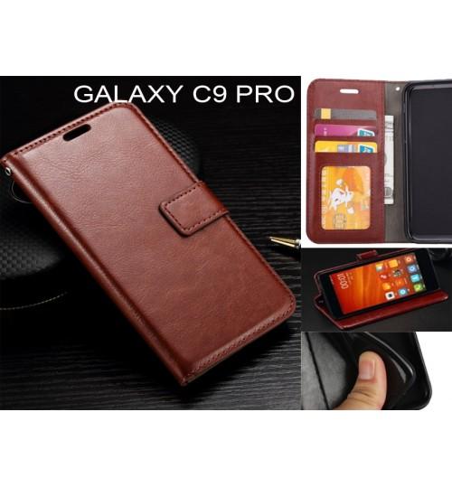 Galaxy C9 Pro  case Fine leather wallet case