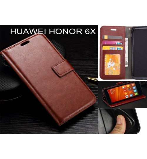 Huawei Honor 6X  case Fine leather wallet case