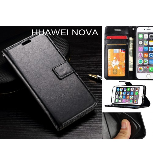 HUAWEI NOVA  case Fine leather wallet case