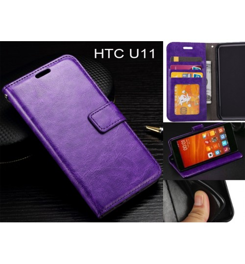 HTC U11  case Fine leather wallet case
