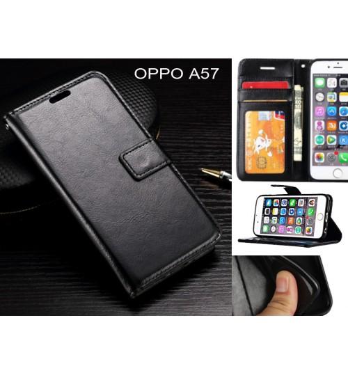 Oppo A57  case Fine leather wallet case