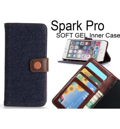 Spark Pro case ultra slim retro jeans wallet case